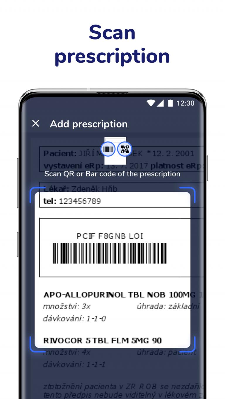 Scan electronic prescription codes in Medfox app