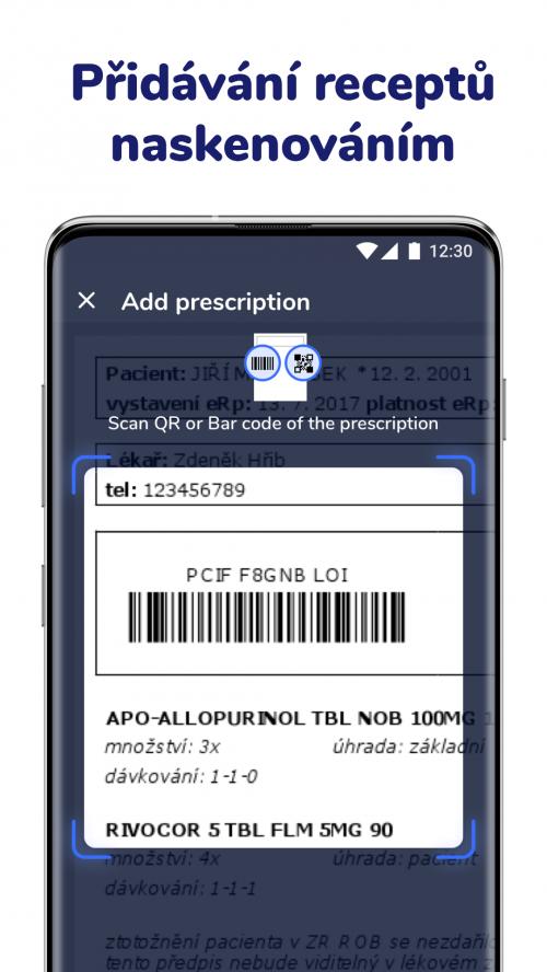 Přidávání eReceptů do aplikace v mobilu - Medfox Digital